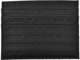 Giorgio Armani Jeans Leather Card Holder Black