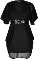 City Chic Sequin Wrap Dress