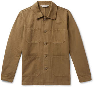 Aspesi Cotton And Linen-Blend Overshirt