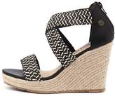 Walnut Melbourne Dusty wedge Black combo Sandals Womens Shoes Casual Heeled Sandals