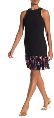 Trina Turk Berry Multicolored Sequin Hem Dress