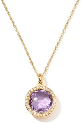 Ippolita Rock Candy 18k Gold Mini Lollipop Necklace in Amethyst & Diamond