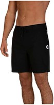 Hurley 18 Phantom Hyperweave Solid Boardshorts (Black) Men's Swimwear