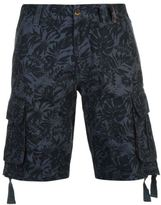 Soul Cal SoulCal Mens Deluxe Floral Cargo Shorts Pants Trousers Bottoms Cotton Print Zip