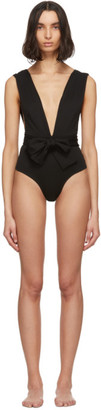 Haight Black Crepe V One-Piece Swimsuit
