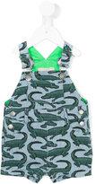 Stella McCartney alligator dungarees - kids - Cotton - 6 mth