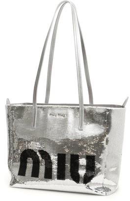 Miu Miu Sequinned Shopping Bag