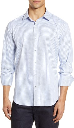 Bugatchi Shaped Fit Button-Up Performance Shirt