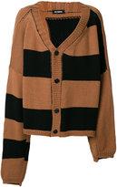 Raf Simons oversized asymmetric sleeve cardigan