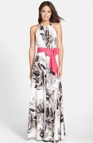 Eliza J Women's Print Chiffon Maxi Dress