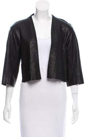 Alexis Leather Open Front Jacket w/ Tags