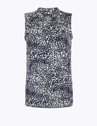 M&S CollectionMarks and Spencer Printed Bib Front Sleeveless Shell Top