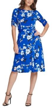 Jessica Howard Petite Floral Jersey Dress