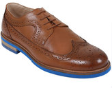 Yours Clothing Tan LEATHER Lace-Up Brogues With Contrast Sole