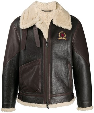 Tommy Hilfiger Shearling Leather Jacket
