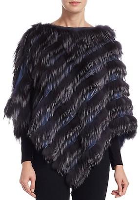 The Fur Salon Fox Fur Poncho