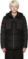 Isaora Black Down Combo Jacket