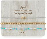 Tai Personalized Birthday Bracelets, Set of 3