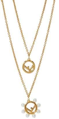 Fendi F double chain necklace
