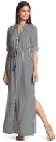Chico's Striped Utility Maxi Dress
