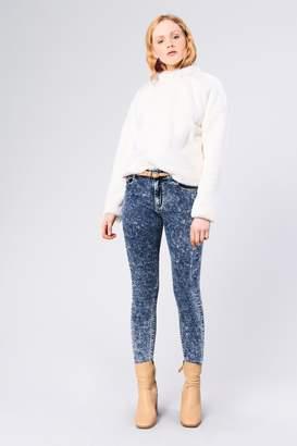 Glamorous Womens **Ecru Faux Fur Sweatshirt By Off White