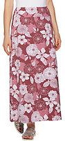 Denim & Co. As Is Floral Print Maxi Skirt