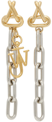 J.W.Anderson Gold and Silver Anchor Chain Earrings