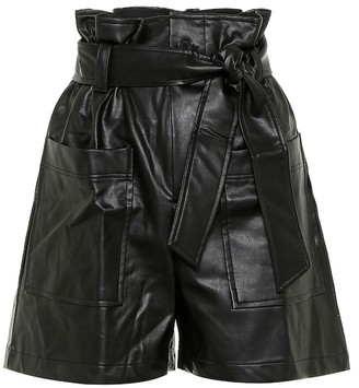 Frankie Shop Exclusive to Mytheresa Alex faux leather paperbag shorts