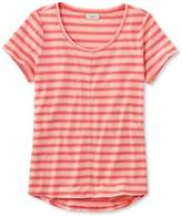 L.L. Bean L.L.Bean Garment-Dyed Tee, Short-Sleeve Crewneck Stripe