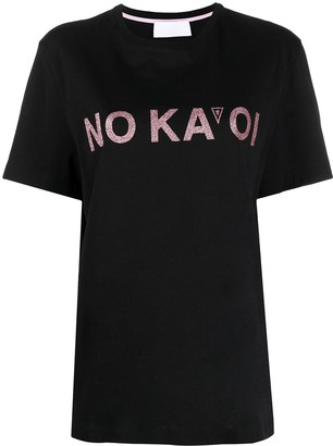 NO KA 'OI Logo-Print Cotton T-Shirt