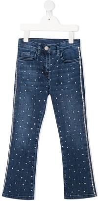 MonnaLisa Embellished Slim-Fit Jeans