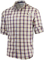 Columbia Unbranded Men's Purple LSU Tigers Plaid Omni-Shade Collegiate Super Tamiami Button-Down Long Sleeve Shirt