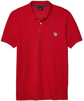Paul Smith Slim Fit Short Sleeve Polo (Red) Men's Clothing