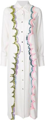 Cynthia Rowley Carson sequin shirt dress