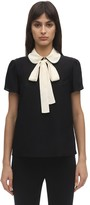 RED Valentino Silk Crepe De Chine Shirt W/collar