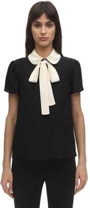RED Valentino Silk Crepe De Chine Shirt W/collar