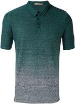 Nuur gradient effect polo shirt - men - Cotton/Linen/Flax - 50