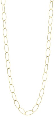 Brera Via 18K Yellow Gold Open Oval Chain Link Long Necklace