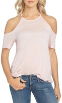 1 STATE 1.state High Neck Cold-Shoulder Top