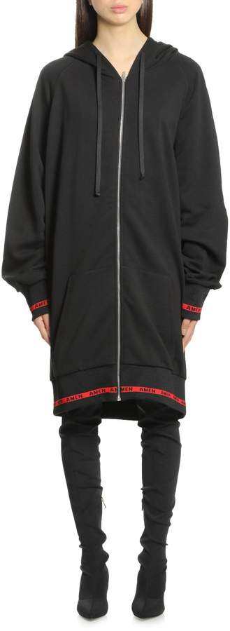 Amen Ams18233 Oversize Hoody With Embr009
