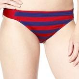 Mossimo Women's Stripe Hipster Swim Bottoms -Navy/Red