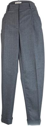Cappellini Grey Wool Trousers for Women