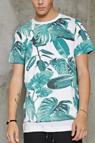 Forever 21 FOREVER 21+ Tropical Leaf Print Tee