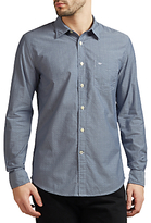 Dockers Laundered Poplin Cotton Shirt, Huff Moonlit Ocean