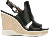Calvin Klein Jeans Cog wedge sandals - women - Calf Leather/Leather/rubber - 36