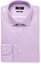 HUGO BOSS Purple Jerris Slim-fit Cotton-twill Shirt - Lilac