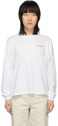 Carhartt Work In Progress White Script Embroidery T-Shirt