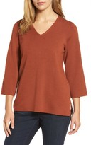 Eileen Fisher Women's Merino Wool V-Neck Top