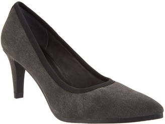 Logo by Lori Goldstein Lori Goldstein Collection Washed Linen Pumps with Crepe Bottom
