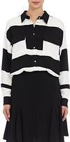 Lanvin Women's Striped Utility Blouse-BLACK, WHITE, NO COLOR